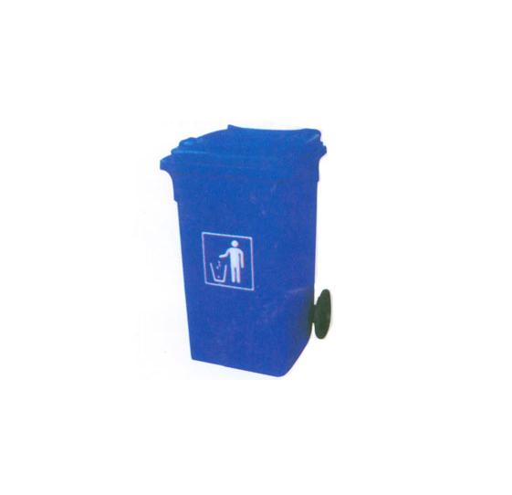 蓝色垃圾桶(图)