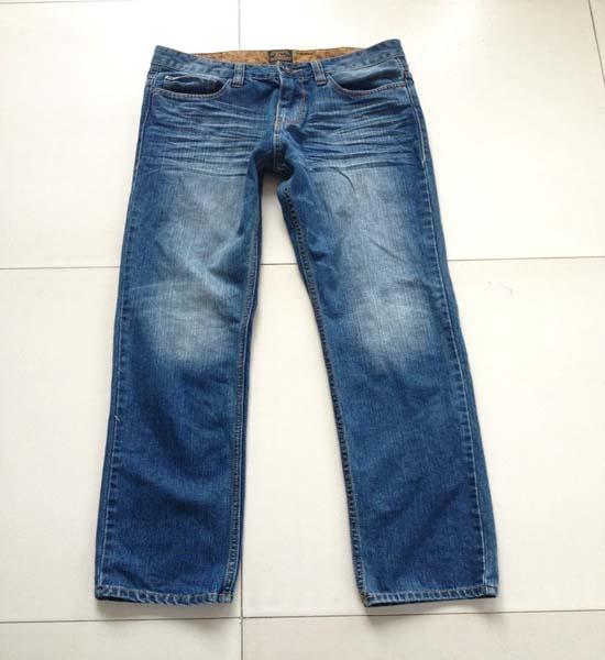 2014新款春季时尚牛仔裤男浅蓝色 欧美时尚男牛仔裤