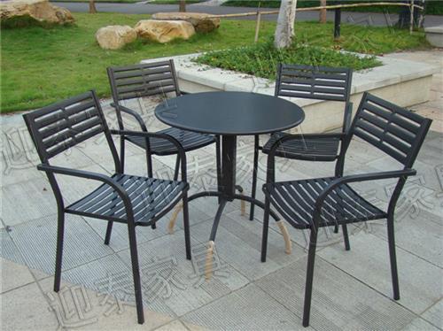 ytb-404欧式家具 铸铝桌椅 户外休闲桌椅 花园家具 铝制桌椅 一桌六椅