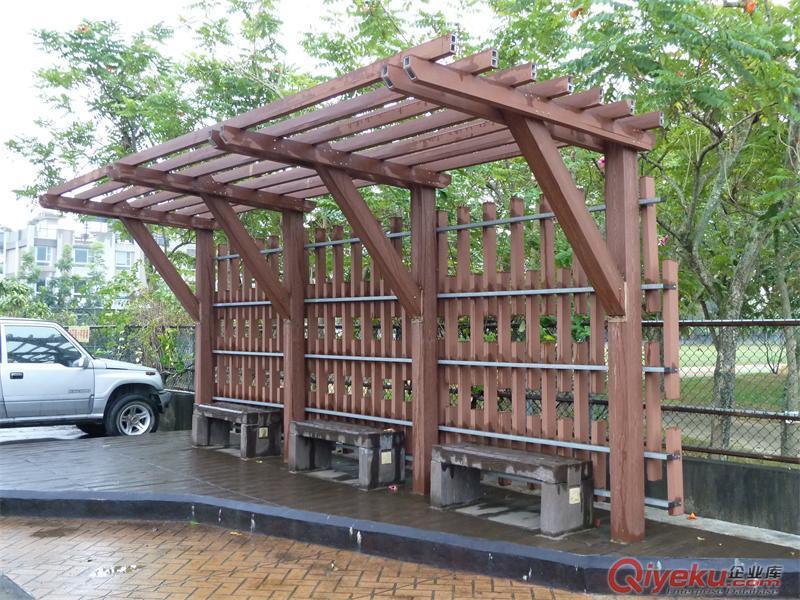 亚茂-供应ps塑木廊架(图)