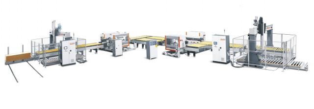 全主动锯铣生产线