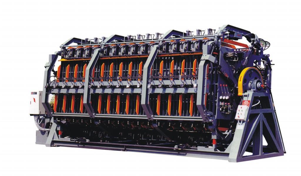 四面旋转式油压拼版机