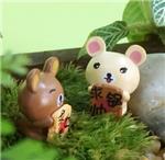 卡通塑料公仔  木头小熊