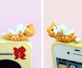卡通手机防尘塞   可爱顽皮猫
