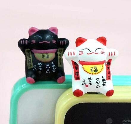 卡通手机防尘塞  喜庆招财猫
