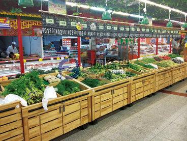 水果货架 超市水果架 木制果蔬堆头 蔬菜陈列架 水果地堆图片