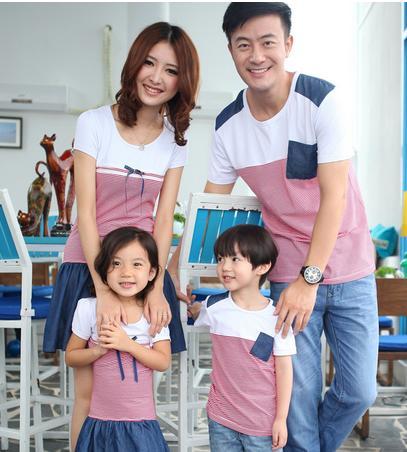 供应亲子装,情侣装,家庭休闲套装T恤生产